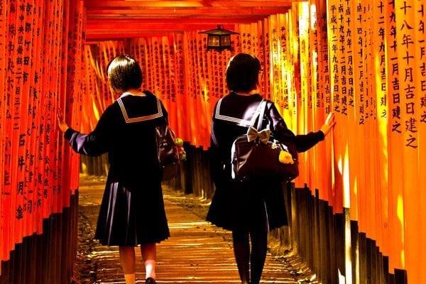 Fushimi Inari meninas