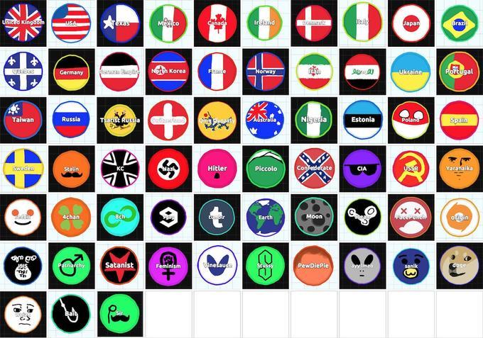 Agar. Io – um jogo viciante / lista de nomes para decorar sua bola. – name list