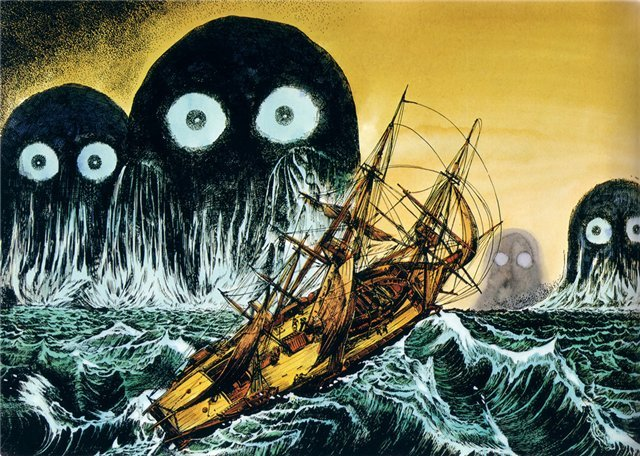 15 monstros, mitos e lendas japonesas - umibozu lenda 2