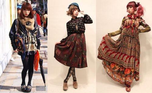 Moda Harajuku – Dolly Kei, Mori Girl e Otome Kei - moda harajuku 1