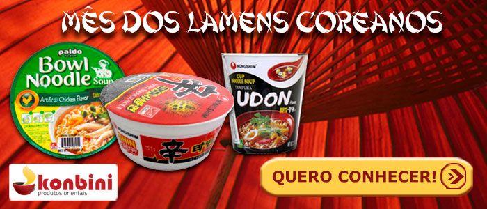 Lamens Coreanos e Promoção na Loja Konbini - banner mes produtos coreanos 1
