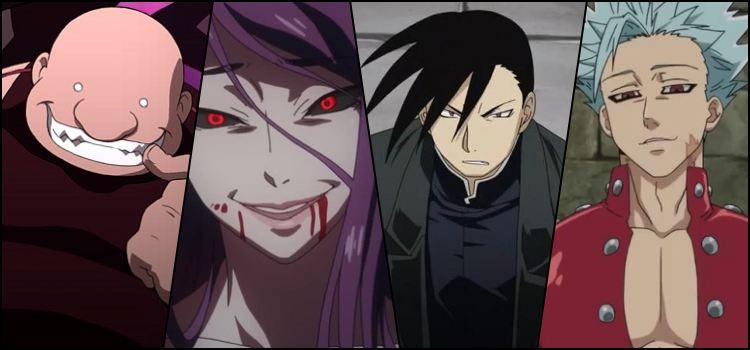 7 pecados capitais nos animes - Referencias e Personagens