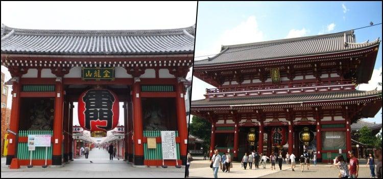 O templo de Senso-ji em Asakusa Tokyo