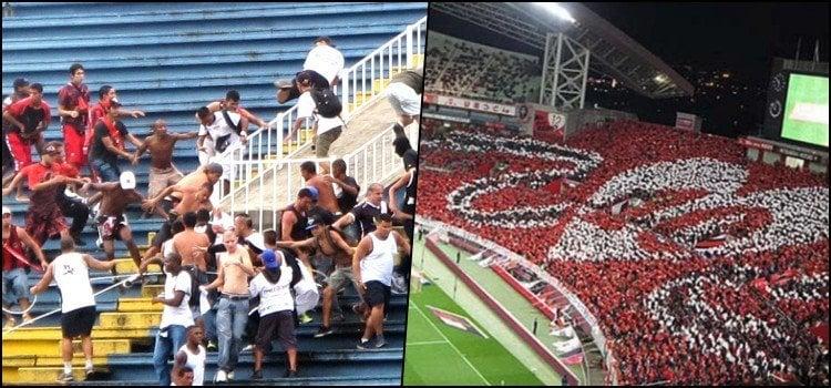 Brasileiro protagoniza cenas de selvageria no futebol Japonês!! - brigas 1