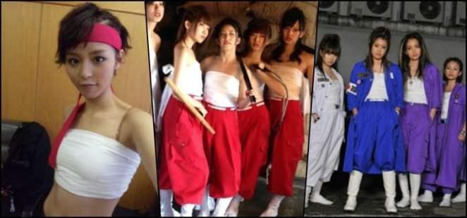 Sarashi - Enrolando corpo no pano de algodão