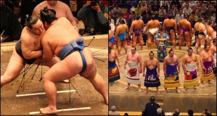 Sumô - A vida dos Lutadores e Curiosidades - lutadores de sumo 1