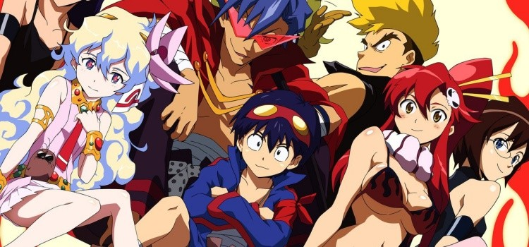 Animes with differentiated strokes and arts - gurren lagann 1