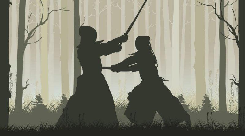 Kendo, un arte marcial japonés.