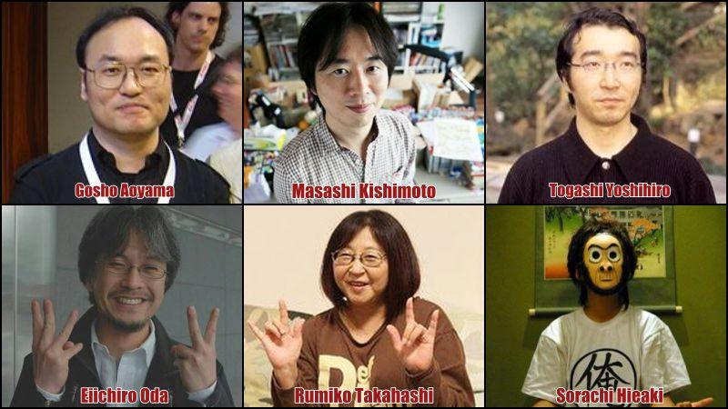 Os 10 Mangakas mais populares do Japão - mangakas 1