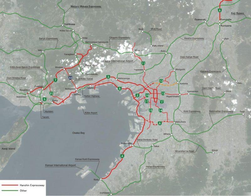 Hanshin Expressway - A via expressa que atravessa um prédio 1