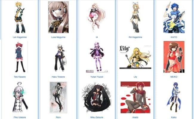 O que é Vocaloid? - Lista de personagens vocaloid - personagens vocaloid 3
