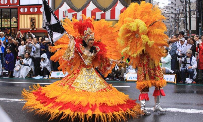 Carnaval no Japão - Asakusa Samba Carnival - asakusa carnival 1