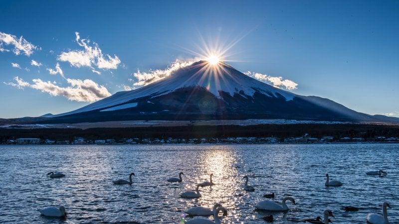 A origem e Significado de Hinode em Japonês - lago yamanaka 1