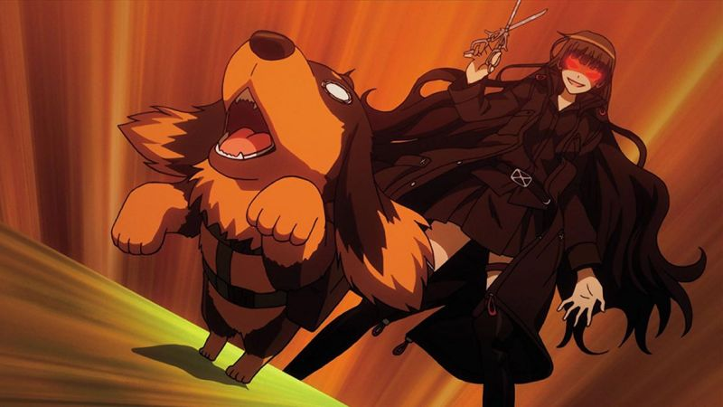 Animes com animais, cachorros e gatos - dog scissors 2