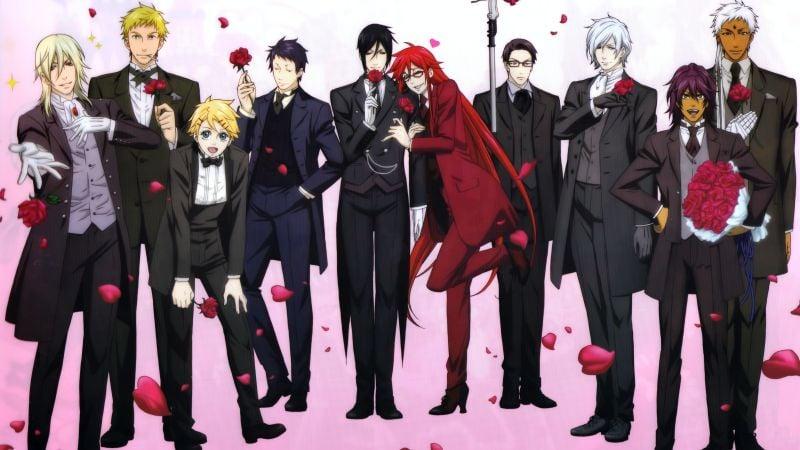 Os Melhores Animes Bishounen + Personagens bonitos - kuroshitsuji 3