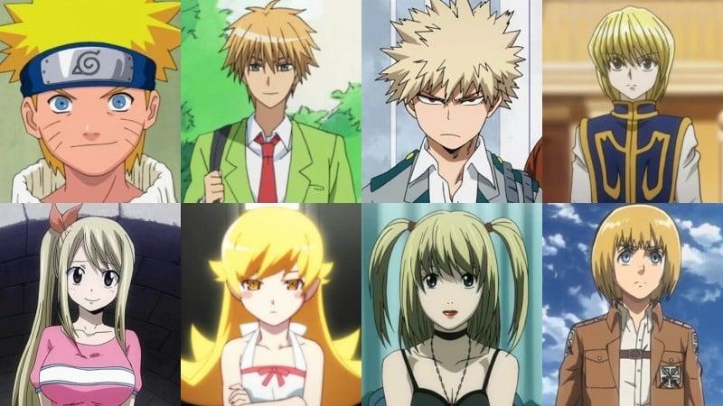 Ý nghĩa của các màu tóc trong anime - vàng, vàng