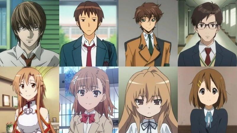 Ý nghĩa của màu tóc trong anime - nâu