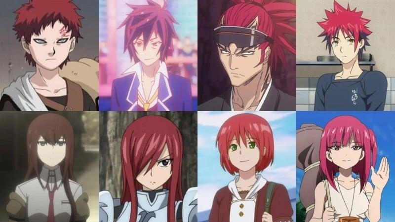 Ý nghĩa của màu tóc trong anime - red
