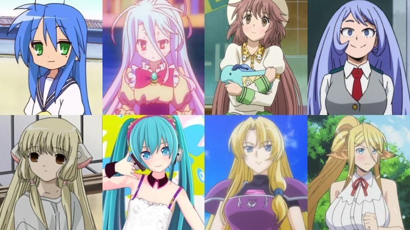 Anime Haartypen, Frisuren und Formen - zu langes Rapunzeu