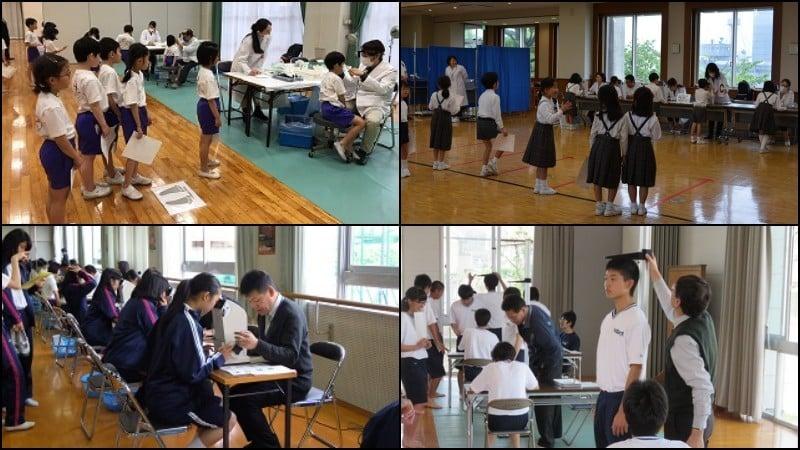 माप दिन - शारीरिक परीक्षण और टेप माप परीक्षण जापान में