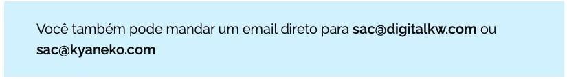 Contato - email mandar