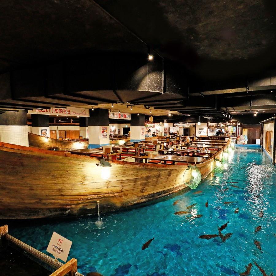 Zauo: restaurante em que você mesmo pesca a sua comida - zauo pesca restaurante
