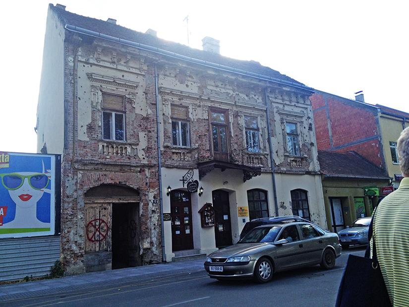 Vukovar bomb damaged building