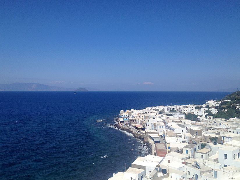 The view from the Monastery towards Kos
