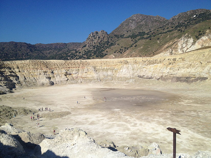"""""""Stefanos"""", the largest crater on Nisyros"""