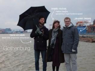 Vega team from Gothenburg, Sweden (from left to right David McCallum, Angella Mackey, Johannes Omberg)