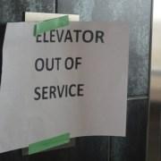 L-Building elevators down for six hours