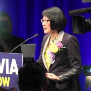 Olivia Chow in high spirits after defeat