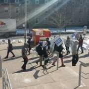Striking U of T doctoral students rally for living wages
