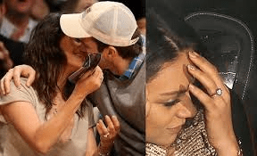 Mila and Ashton have tied the knot