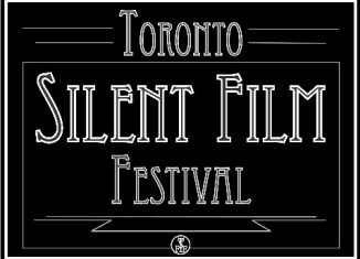 """A black and white advertisement that reads """"Toronto Silent Film Festival"""""""