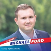 Re- Elected Councillor Michael Ford speaks following his Ward 1 win