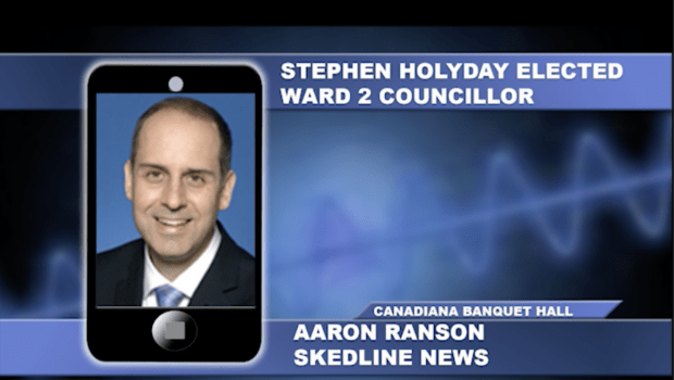 Stephen Holyday elected as Ward 2 Councillor