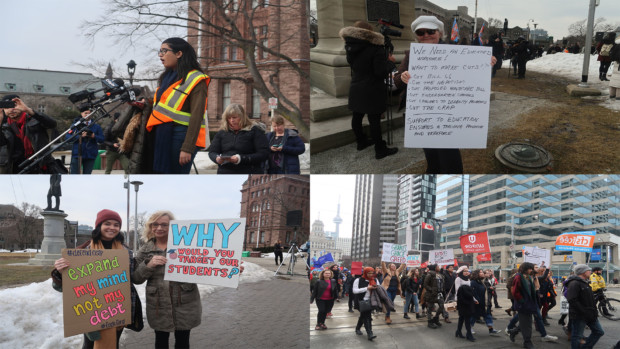 Students rally at Queen's Park to protest OSAP changes
