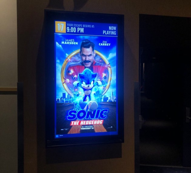 Sonic runs around the big screens across Canada