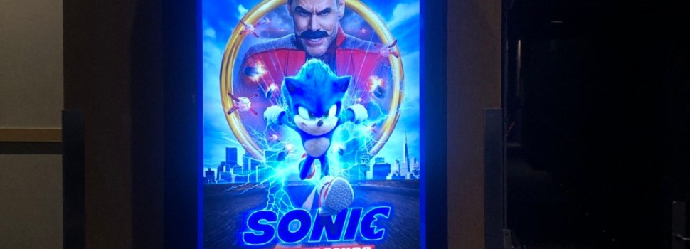 Sonic runs around the big screens across Canada