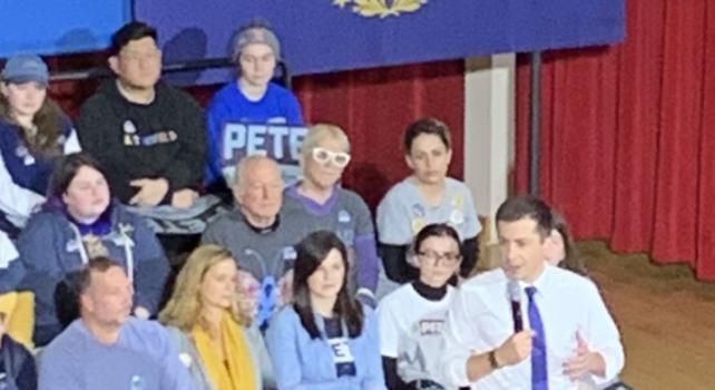 Mayor Pete Buttigieg holds first rally since Democratic debate, in Keene, NH