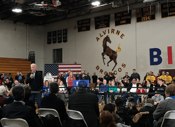 Trying to win back NH voters, Biden mixes the personal with the political