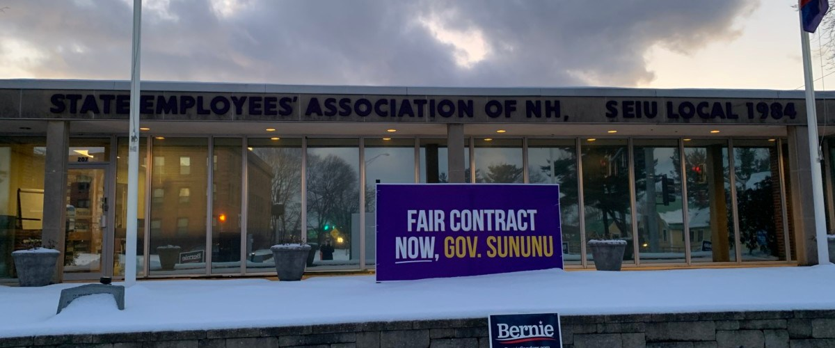 Bernie event at union hall highlights employee standoff with state
