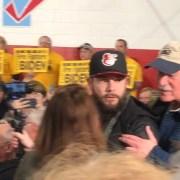 Joe Biden heckler shows up at Bernie Sanders rally