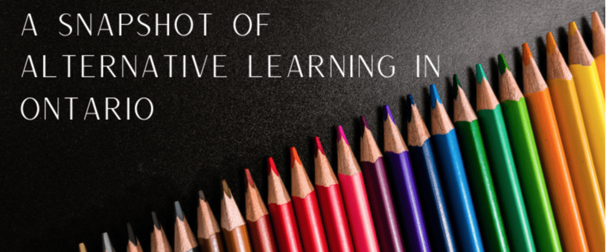 Emma Moeck: From homeschooling to special education – a snapshot of alternative learning in Ontario