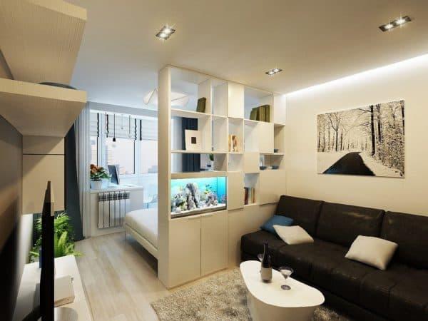 Спальня-гостиная 20 кв. м: дизайн, зонирование совмещенных ...