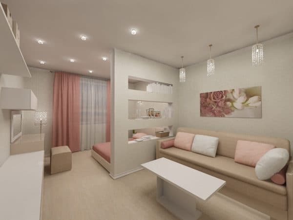 Спальня-гостиная 16 кв. м: дизайн, фото зонирования в ...