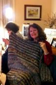 Debbie prolific afghan knitter