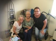Carolyn, Dorothy (104) and Betty