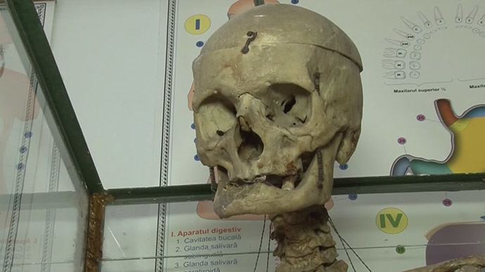 Skeleton can keep on teaching, health authorities say